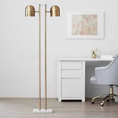 Gold Double Dome Floor Lamp - Pottery Barn Teen