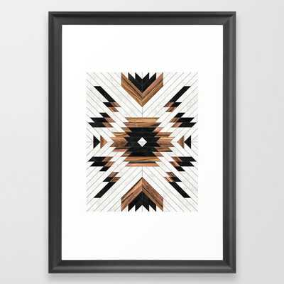 Urban Tribal Pattern No.5 - Aztec - Concrete and Wood Framed Art Print - Society6