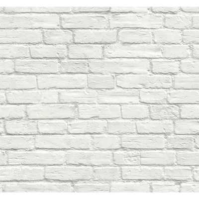 Vintage White Brick Peel and Stick Wallpaper - Home Depot