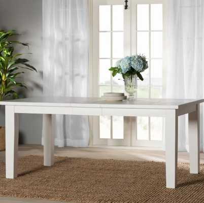 """Zeinab Rectangle Extendable Dining Table"" - Wayfair"