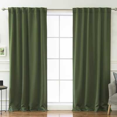 Sweetwater Blackout Solid Thermal Curtain Panels (set of 2) - Wayfair