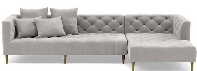 MS. CHESTERFIELD Sectional Sofa with Right Chaise - Interior Define