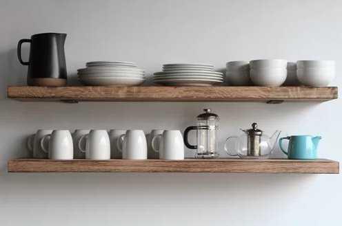 Geller Modern Hardwood Wall Shelf - Wayfair