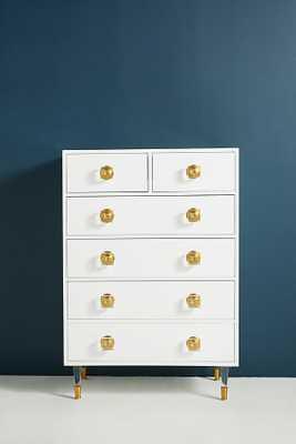 Lacquered Regency Six-Drawer Dresser - Anthropologie