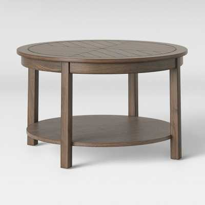 Eastford V Pattern Coffee Table Brown - Threshold - Target
