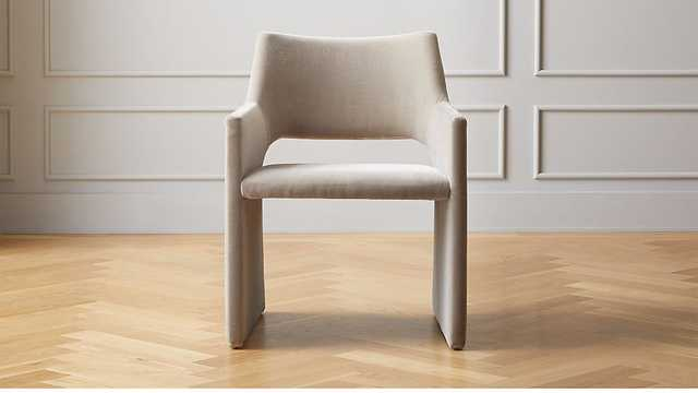 Foley Mink Velvet Dining Chair - CB2
