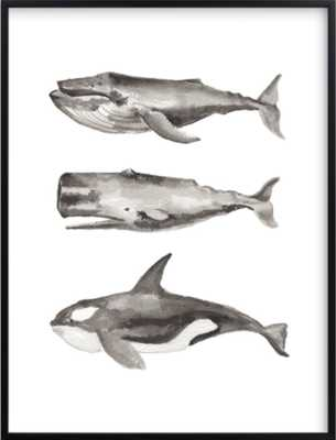 Three Stacked Whales - Minted