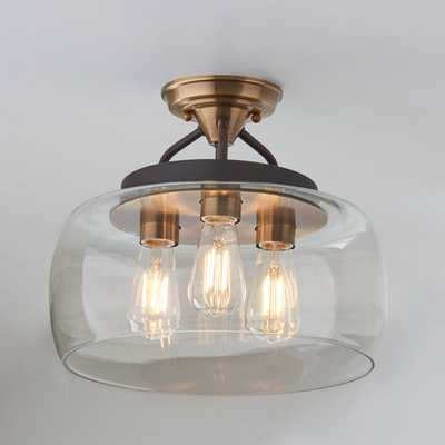 MOD BOWL CEILING LIGHT - LARGE, AGED BRASS BRONZE - Shades of Light