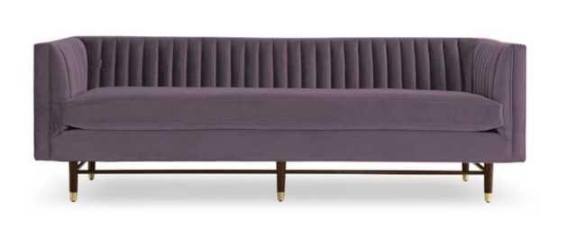 Purple Chelsea Mid Century Modern Sofa - Royale Lavender - Medium - Joybird