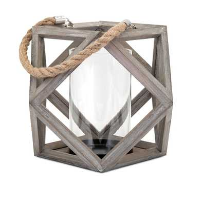 Ares Large Wood Lantern - Mercer Collection