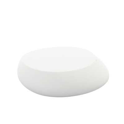 Stone Plastic/Resin Coffee Table, White - Perigold