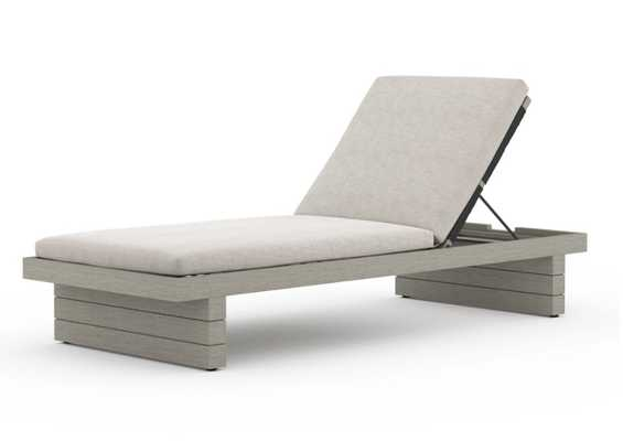 Leroy Outdoor Chaise - Burke Decor