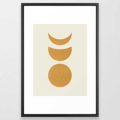 Lunar Phase - Gold Framed Art Print - Society6