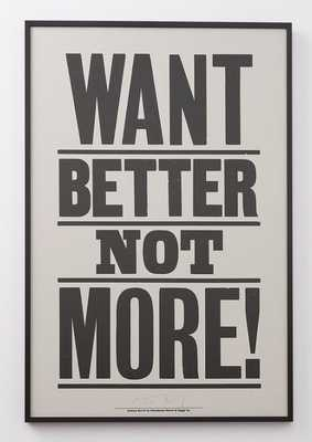 Want Better Not More Print  - framed - Schoolhouse Electric
