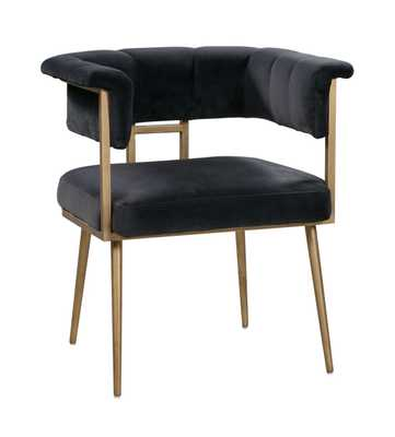 Dylan Gray Velvet Chair - Maren Home