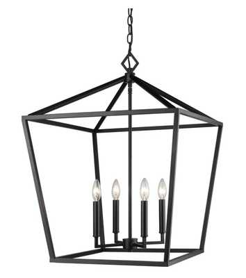 "Poisson 4-Light Lantern Chandelier, 20""W x 28""H - Wayfair"