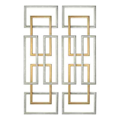 AERIN METAL WALL PANELS, S/2 - Hudsonhill Foundry