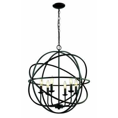 Rubbed Oil Bronze Baitz 6-Light Unique / Statement Globe Chandelier - Wayfair