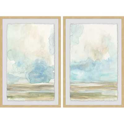'Pale Sunset Diptych' 2 Piece Framed Print Set - Birch Lane