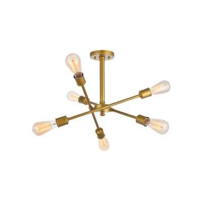 Johanne 6-Light Sputnik Chandelier, Brass - AllModern