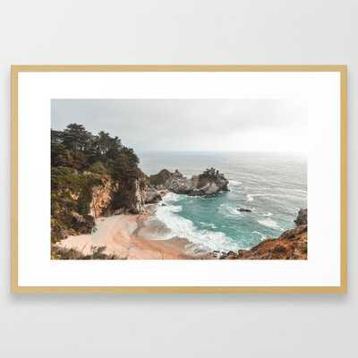 Big Sur Framed Art Print // 26x38 // conservation natural frame - Society6