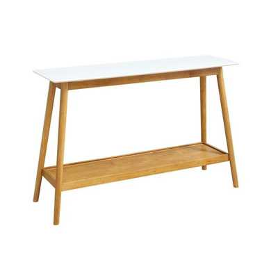 Oslo White Console Table - Home Depot