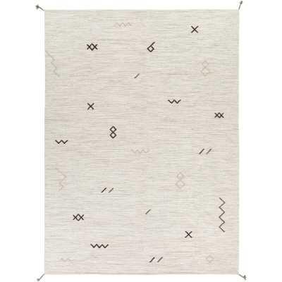 Lavenia Handwoven Flatweave Wool Light Gray/Dark Brown/Beige Area Rug - Wayfair