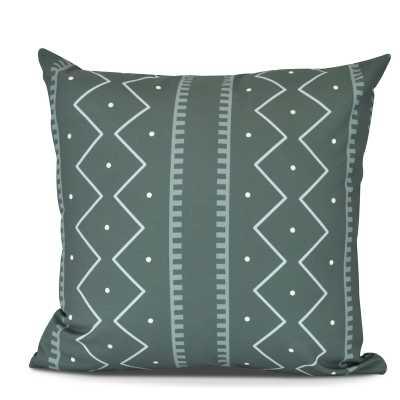 "Lassiter Mudcloth Geometric Outdoor Throw Pillow - 16"" - AllModern"