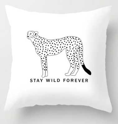 """Stay wild forever - black leopard Throw Pillow 16""""x16"""" - Society6"""