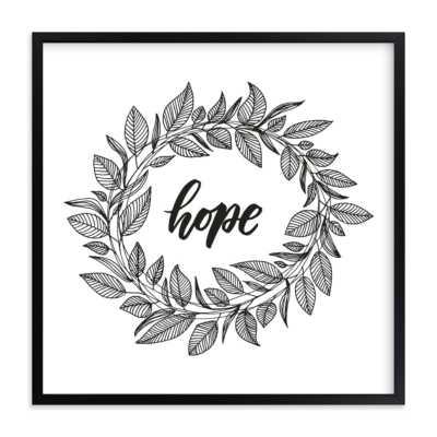 Hope Wreath , black - Minted