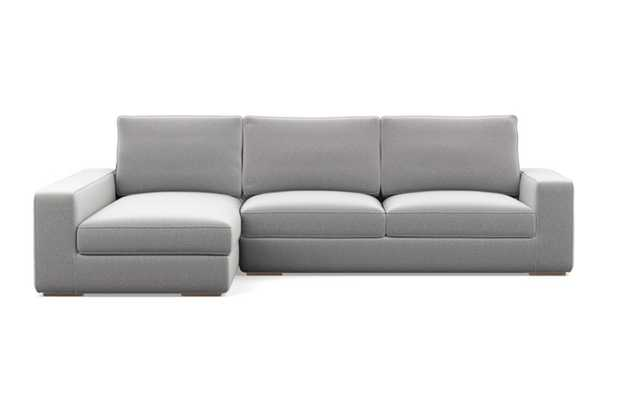 "AINSLEY Sectional Sofa with Left Chaise - 109"" - Matte Black Ainsley Low L Leg - Interior Define"