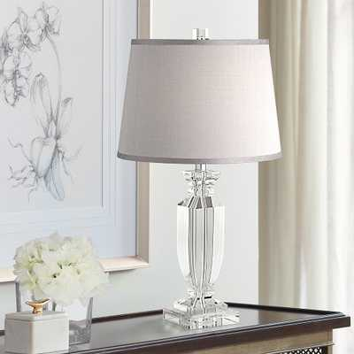 Sherry Crystal Table Lamp with Gray Shade - Style # 53X57 - Lamps Plus