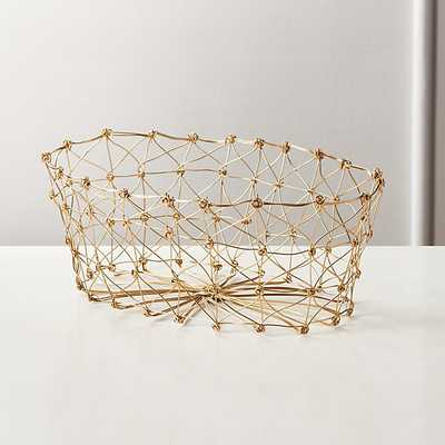 KNOT GOLD BREAD BASKET - CB2