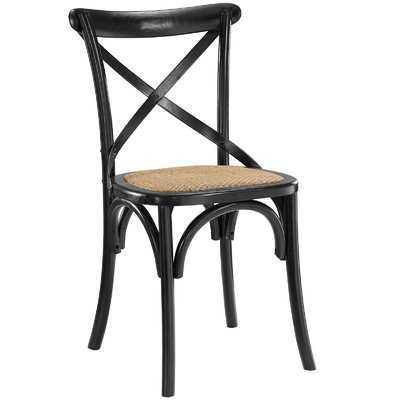 Gage Side Chair, Black - Wayfair