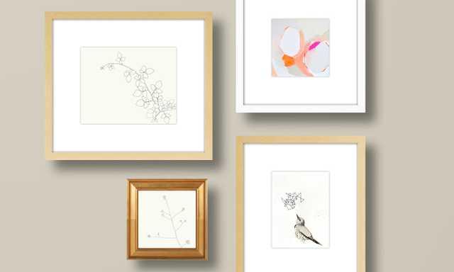 An Abstract Nature Gallery Wall - Artfully Walls