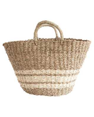SEAGRASS & PALM BASKET - LARGE - McGee & Co.