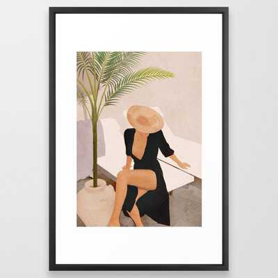 """That Summer Feeling I Framed Art Print 26"""" x 38"""" Black Vector Frame - Society6"""
