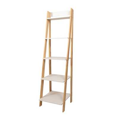 N'Keal Solid Wood Ladder Bookcase - Wayfair