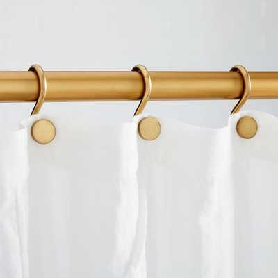 Shower Curtain Rings, Antique Brass - West Elm