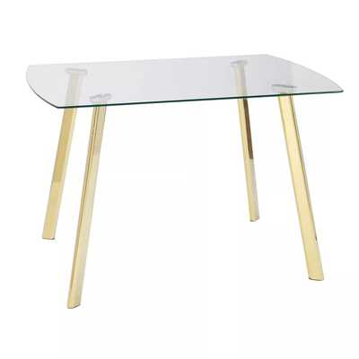 Uptown Dining Table Glass/Gold - Target