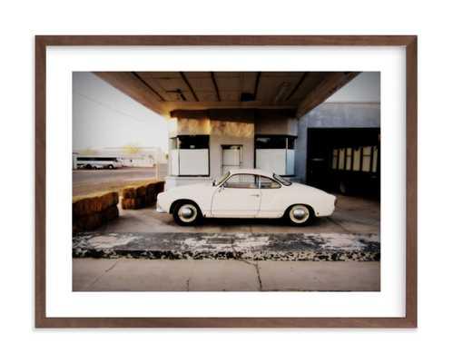 "time stood still - 24""x18"" - Walnut Wood Frame - white border - Minted"