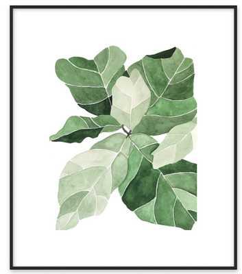 "Fiddle Leaf Fig 14"" x 17"" Contemporary Metal Frame Matte Black - Artfully Walls"