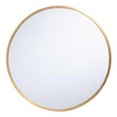 Oversized Round Brass Sana Mirror - World Market/Cost Plus