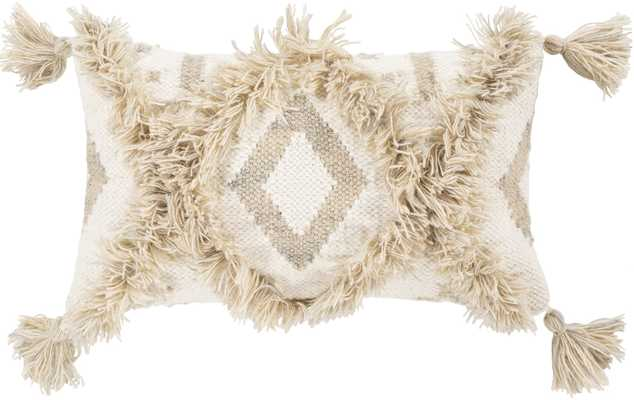 VORA LUMBAR PILLOW, KHAKI 18 x 10 - Lulu and Georgia