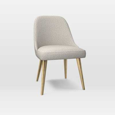 Mid-Century Upholstered Dining Chair - Metal Legs - West Elm