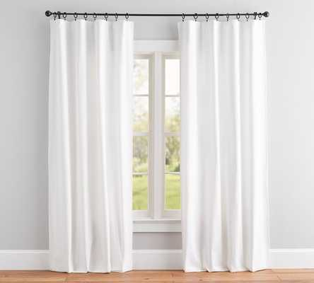 "Broadway Drape, Set of 2, 84"", White - Pottery Barn"