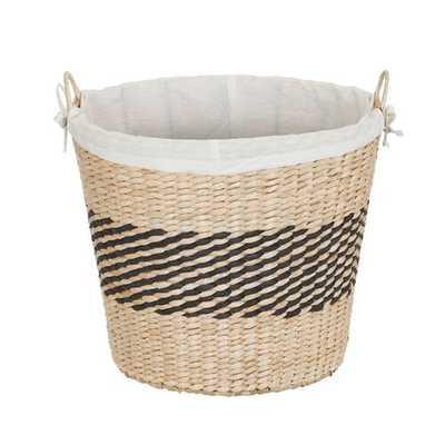 Decorative Band Wicker Basket - Wayfair