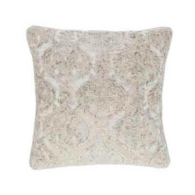 """DAMASK VELVET EMBROIDERED DECORATIVE PILLOW -  20"""" x 20"""" - Pine Cone Hill"""