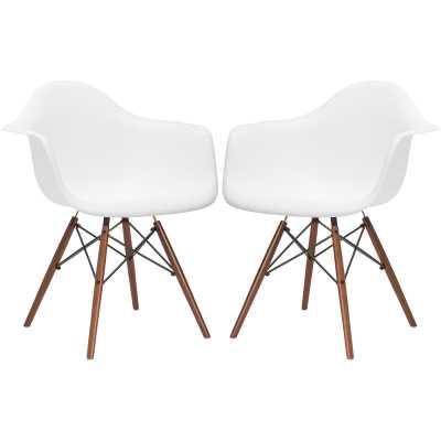 Quintus Dininger Dining Chair- White, Walnut - Wayfair