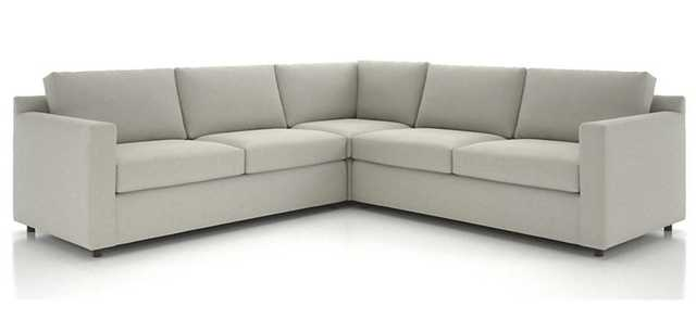 Barrett 3-Piece Sectional in Galaxy, Linen - Crate and Barrel